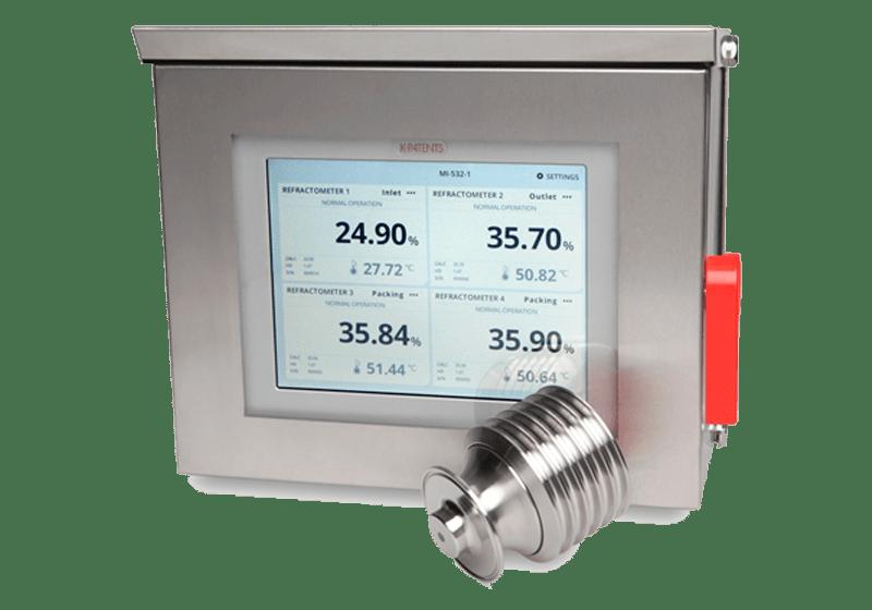 Refractómetro de proceso uso alimentario PR-43-AC